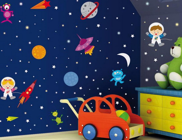 Murals by libby for Space wallpaper for kids room